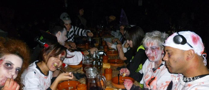 cena halloween madrid