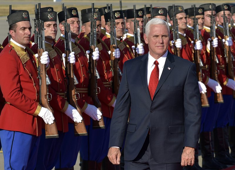 1 2017 Photo U S Vice President Mike Pence Attends A Welcome Ceremony At Golubovci Airport Near Podgorica Monte Has Been Loyal Messenger