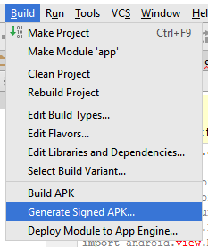 Android Generate Signed Package