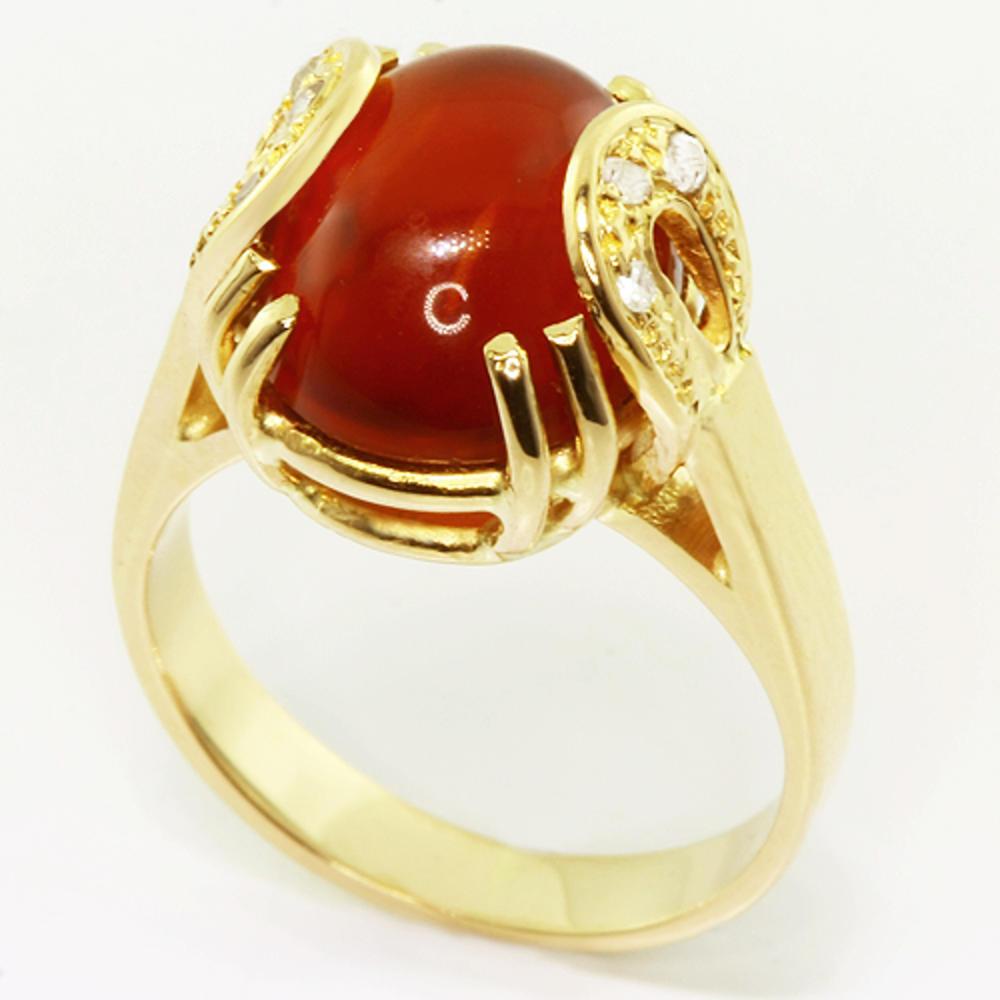Co  Oval Garnet Ring Vintage