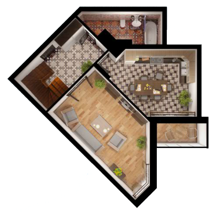 двухуровневой квартиры