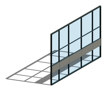 The AA®110 Curtain Wall System Has Been Designed In Line With The AA®100  System, The Fundamental Difference Is The Depth Of The Mullions And  Transoms.