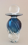 Little River Hotglass - Perfume - Aqua Tall Ribbed Twist