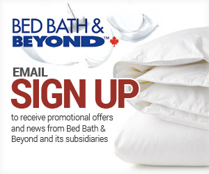 Sign Up with Bed Bath & Beyond