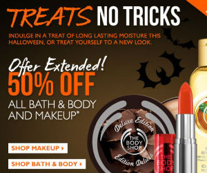 Online Exclusive: 50% off at The Body Shop