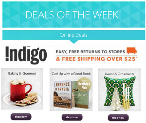 Chapters/Indigo Deals of the Week
