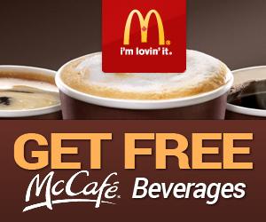 Get Free McCafe Beverages