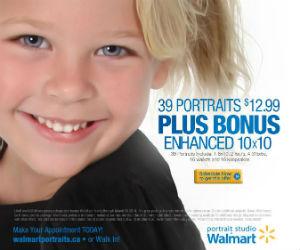 39 Portraits for $12.99 at Walmart Photo Studio