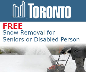 Free Snow Removal for Seniors or Disabled Person