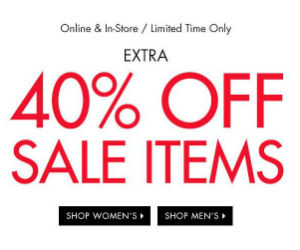 Get an Extra 40% off Sale Items at Guess