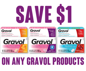 Save $1 on Any Gravol Product