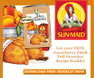 Free Sun-Maid and Gooseberry Patch Fall Favorites Recipes