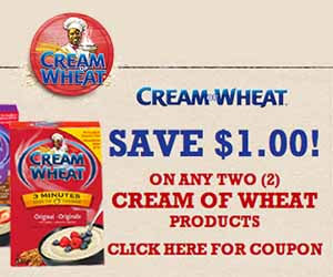 Save $1 on Any Cream of Wheat Hot Cereal