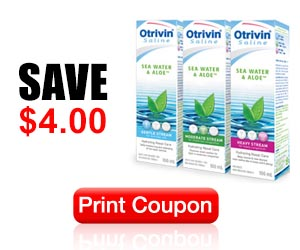 Save $4 off ANY Otrivin Saline Sea Water & Aloe Product