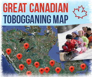 Great Canadian Tobogganing Map