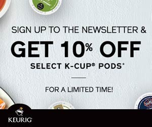 Get 10% off on K-Cups from Keurig