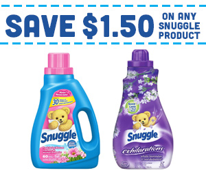 Save $1.50 on any Snuggle Product