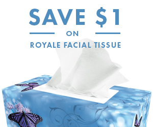 Save $1 on Royale Facial Tissue