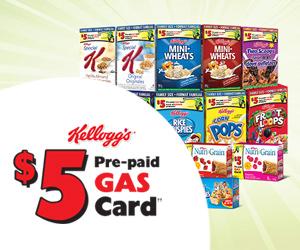 Kellogg's Prepaid Gas Card Offer