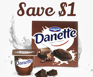 Save $1 off Danette Chocolate Pudding