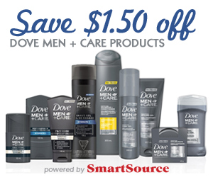 Save $1.50 off Dove Men + Care Products