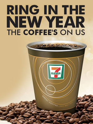 Free 7/11 Coffee on New Year's Day