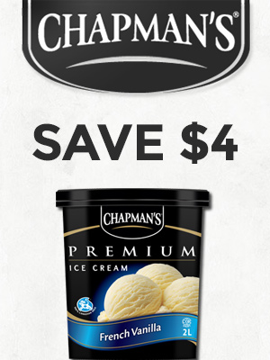 Save $4 Off Chapman's Ice Cream