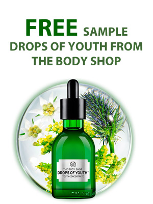 Free Sample Drops of Youth from The Body Shop