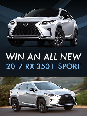 Win a 2017 Lexus RX 350