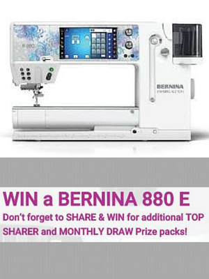Win a Bernina 880 E Sewing Machine