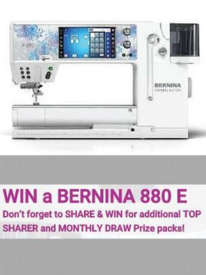 Win a Bernina 880 E Sewing Machine