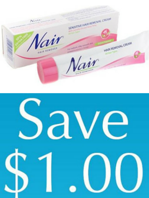 Save $1 on any Nair Cream Product