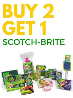 Buy 2 Get 1 on Scotch-Brite Products
