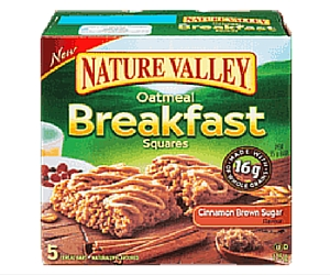 Free Fibre 1 Cheesecake Bar, Nature Valley Biscuits or Oatmeal Breakfast Squares