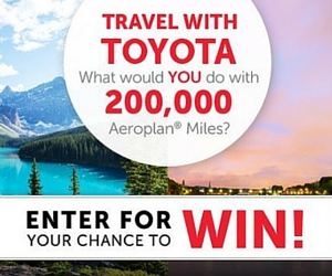 Win 200,000 Aeroplan Miles from Toyota