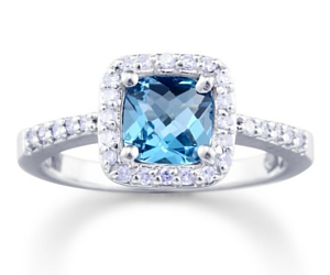 Win a Blue Topaz and Diamond Ring