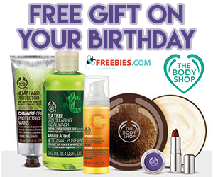Free Birthday Gift From The Body Shop