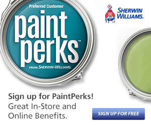 $10 off at Sherwin Williams with Paint Perks Rewards