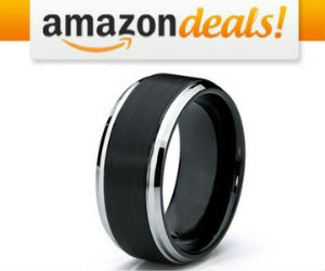 89% off Men's Two Tone Tungsten Carbide Wedding Band Ring