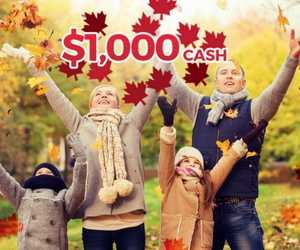 Win 1 of 10 $1,000 Cash Prizes