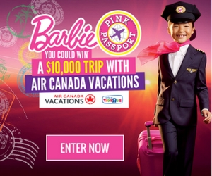 Win a $10,000 Vacation or Barbie Prize Packs