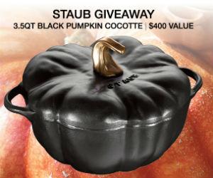 Win a Black Pumpkin Cocotte
