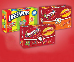 Save $1.50 off Skittles & Starburst or Lifesavers