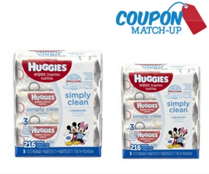 Savings Match-Up with Huggies Wipes