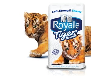 Save 75¢ off Royale Tiger Towel