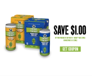 Save $1 Off Any V8+ Energy Can or Multipack