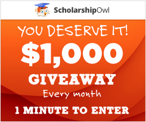 $1,000 Giveaway from ScholarshipOwl