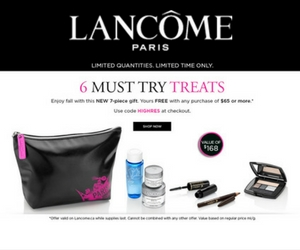 Free Lancome Gift with $65 Purchase
