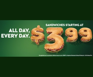 Get a 6″ Sub For $3.99 Every Day at Subway