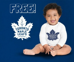 GTA Only- Free Toronto Maple Leafs Lil' Leafs Bodysuit